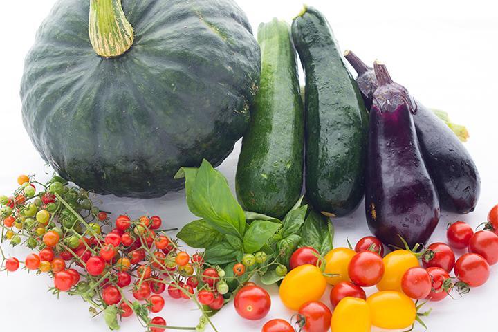 ネストで採れた自家栽培野菜